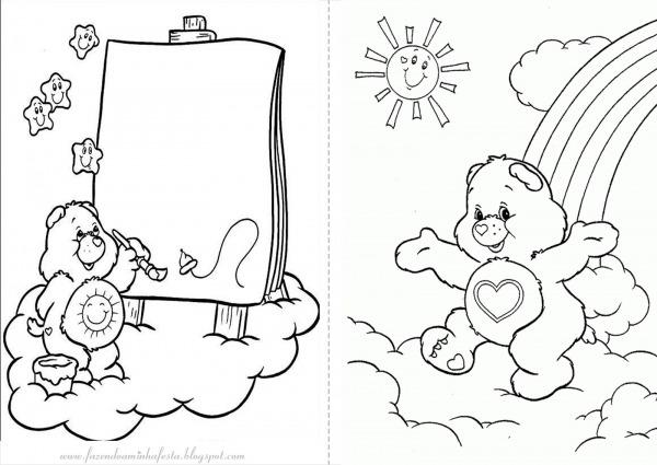 Desenhos Dos Ursinhos Carinhosos Para Colorir – Pampekids Net