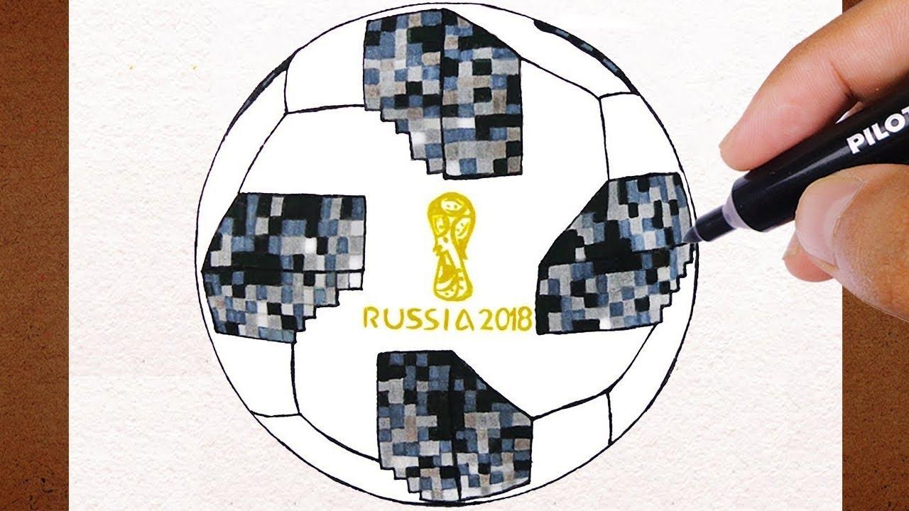 Como Desenhar A Bola Futebol Campo Adidas Telstar Copa Do Mundo