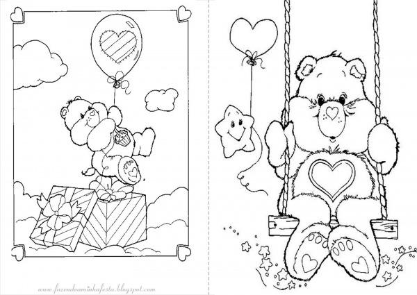 Imagens Dos Ursinhos Carinhosos Para Colorir
