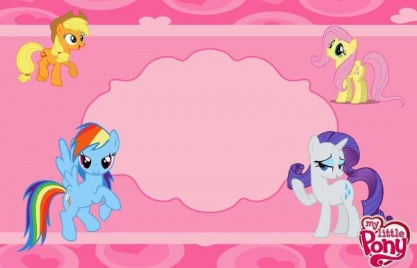 My Little Pony  Invitaciones Para Imprimir Gratis