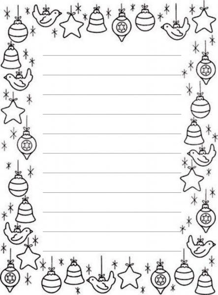 Carta Pai Natal Imprimir