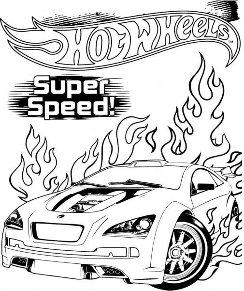 Hot Wheels Super Speed Coloring Page