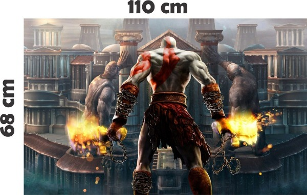 Adesivo De Parede Geek Jogo Game God Of War Deus Da Guerra