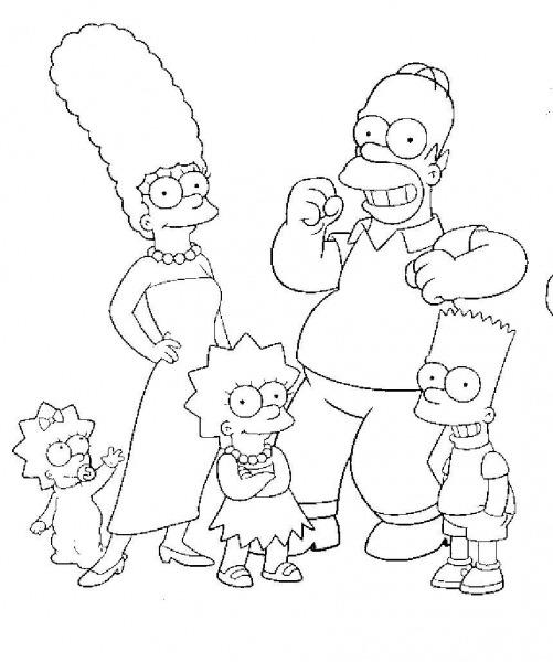 Simpsons Para Colorir – Pampekids Net