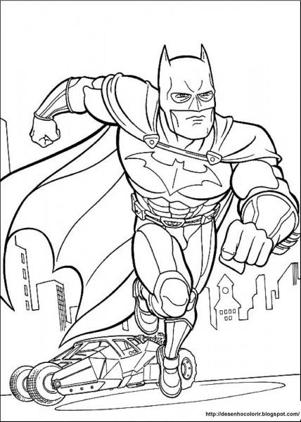 Desenho Para Colorir Do Batman
