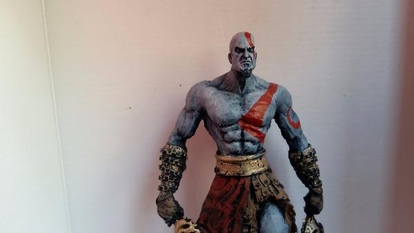 Boneco Em Resina Do Kratos