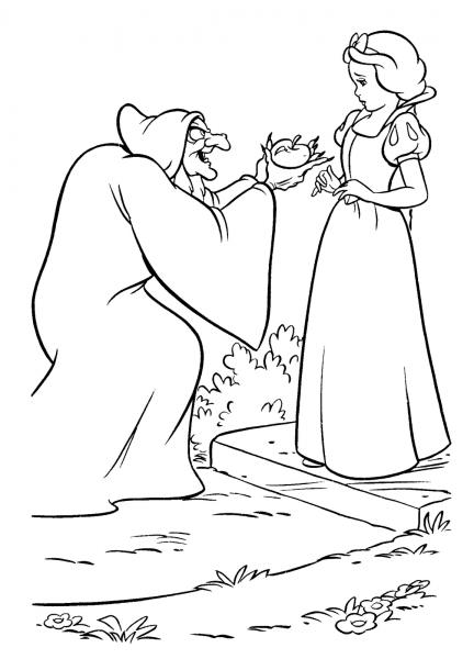 Desenho De Bruxa Da Branca De Neve Para Colorir