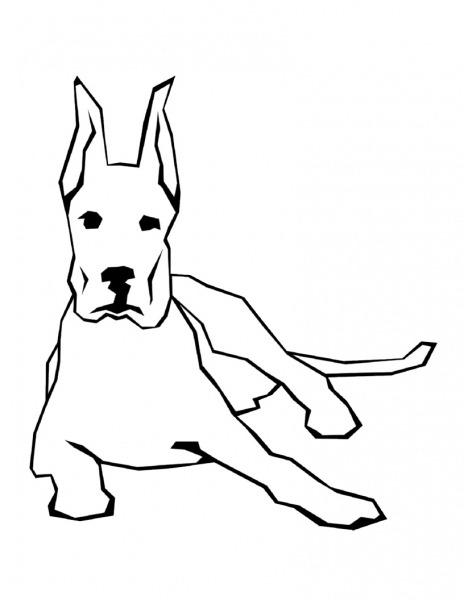 Desenho De Cachorro Com Orelha Em Pé Para Colorir