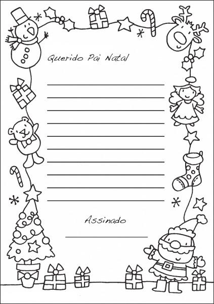 Colorir Imagens   Carta Para O Pai Natal Para Imprimir
