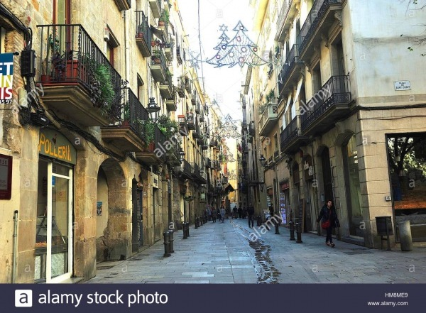 Casc Antic, Old Downtown  Barcelona, Spain Stock Photo  132957393