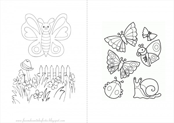 Desenhos Para Colorir Jardim Encantado – Pampekids Net
