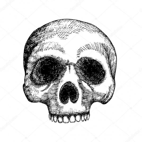 Desenho De Caveira Desenho Mão — Stock Photo © Goldenshrimp  125217344
