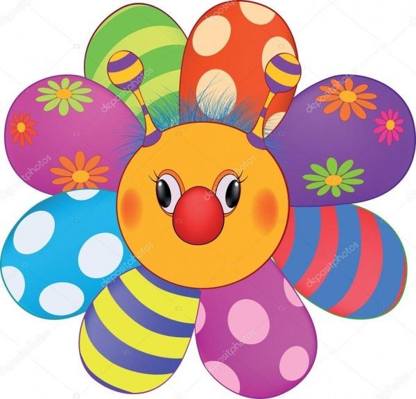 Desenho Animado Feliz Flor, Sol, Brinquedo Macio — Vetores De