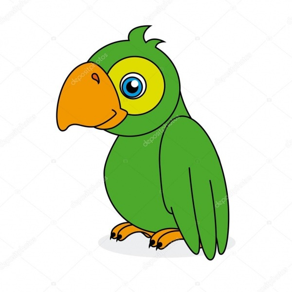 Desenho De Papagaio — Vetor De Stock © Yupiramos  35697641