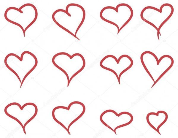 Conjunto De Mão Desenhar Corações — Vetores De Stock © Jonnydrake