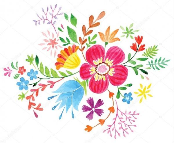 Folhas E Flores Coloridas — Vetores De Stock © Annasuchkova  82082088
