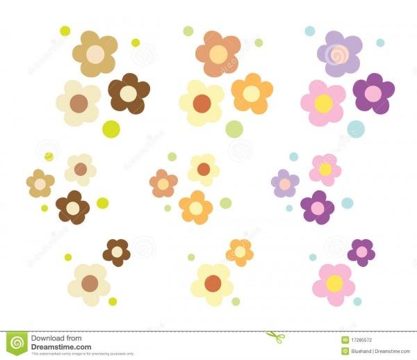Desenho Colorido Da Flor Ilustração Do Vetor  Ilustração De