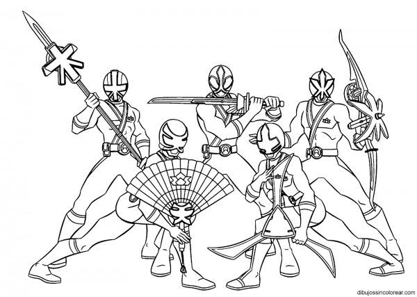 Desenho De Power Rangers Para Colorir – Pampekids Net