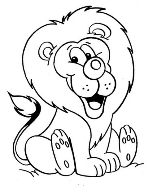 Desenhos De Leões Para Imprimir E Colorir