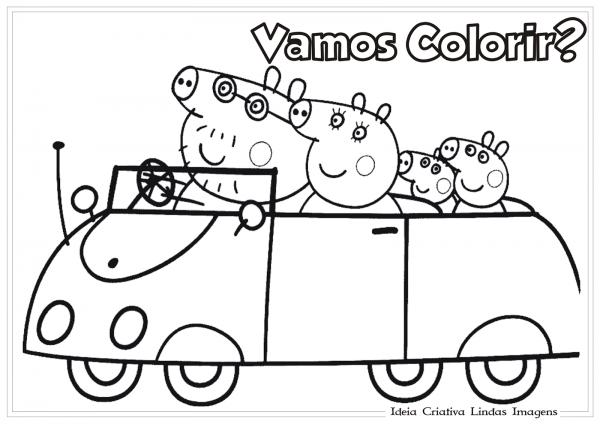 Desenho Para Imprimir E Colorir Peppa