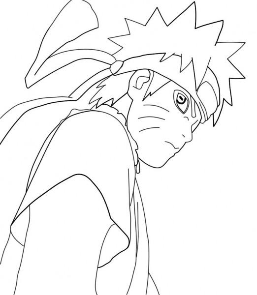 Desenhos De Naruto Para Pintar  Desenhoswiki Com