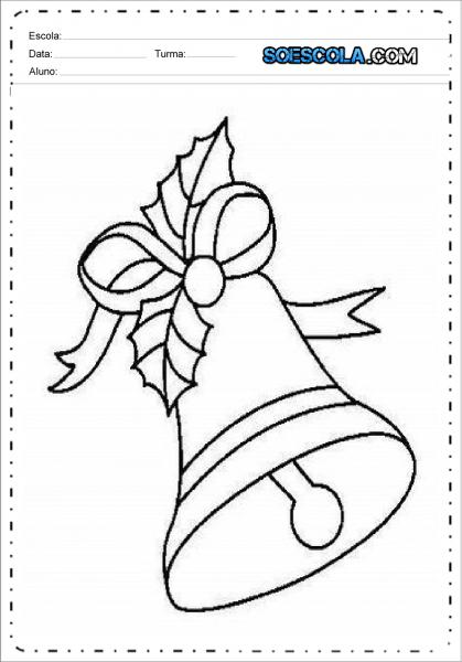 Desenhos De Sinos De Natal