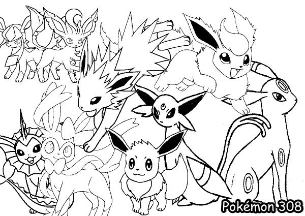 Tag; Desenhos Para Colorir E Imprimir Do Pokemon Preto E Branco