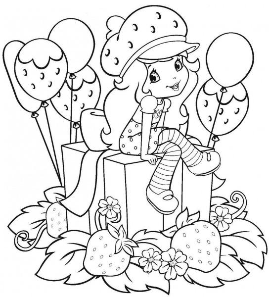 Desenhos Para Pintar Moranguinho – Pampekids Net