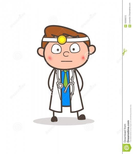 Doutor Surprised E Ilustração De Cora Dos Desenhos Animados Do
