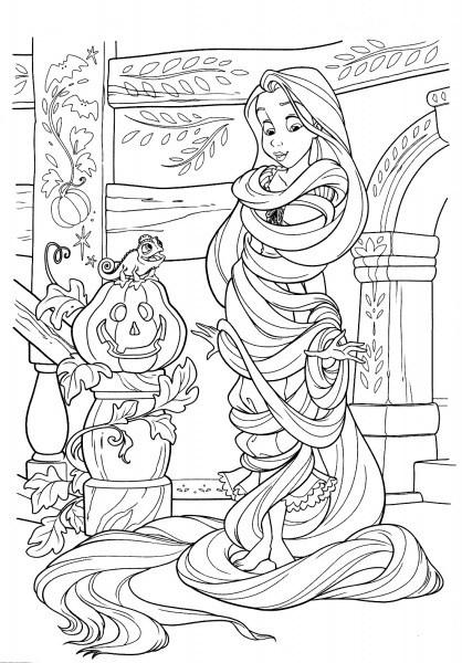 Desenho De Enrolados, Filme Da Disney Para Colorir