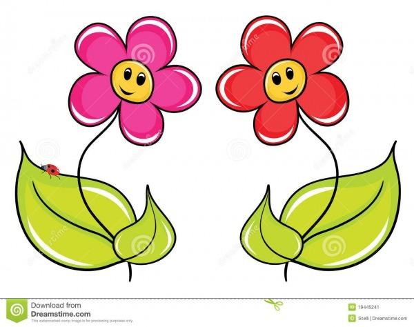 Flores Dos Desenhos Animados Ilustração Do Vetor