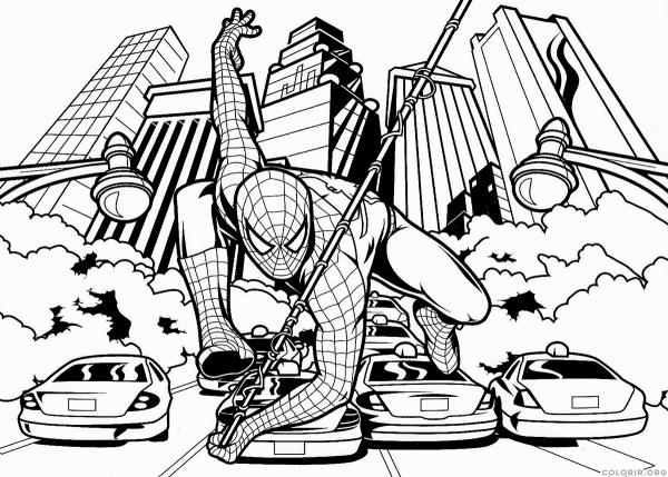 Homem Aranha Para Colorir E Imprimir