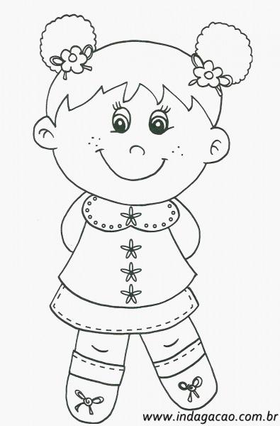Imagem De Menina Para Colorir Imagem Desenho De Menina Para