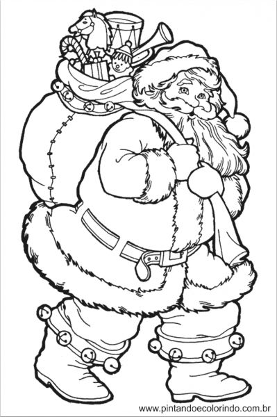 Papai Noel Desenhos Para Colorir – Pampekids Net