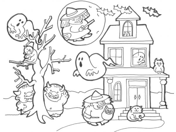Imagens Do Halloween Para Colorir – Pampekids Net