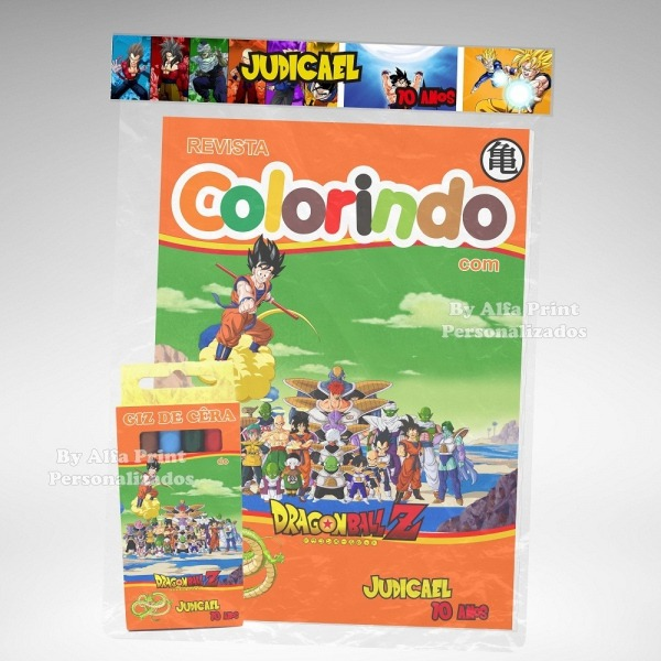 Kit Colorir Dragon Ball Z + Brindes No Elo7