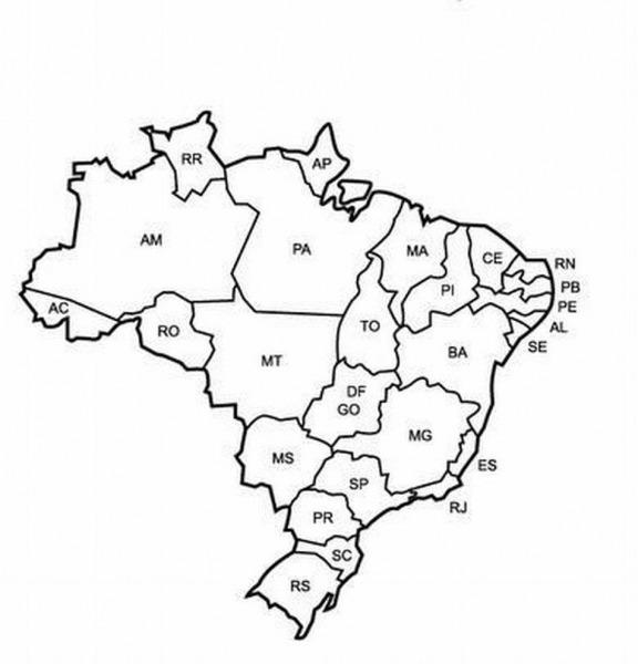 Desenhos Online Para Colorir E Imprimir!  Mapa Do Brasil Para Colorir