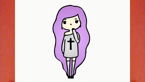 Como Desenhar Uma Bonequinha Tumblr (boneca, Garota, Menina)