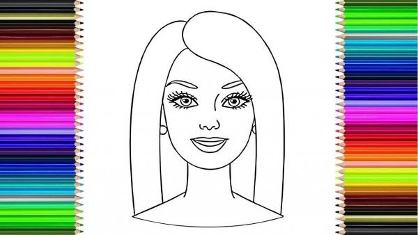 Como Desenhar O Rosto Da Barbie FÁcil     How To Draw Barbie Face