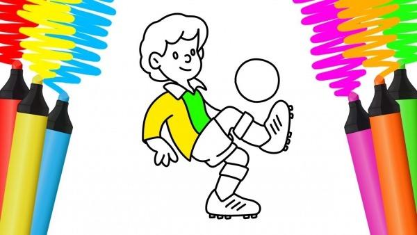 Como Desenhar E Colorir Jogador De Futebol – Pintar E Aprender