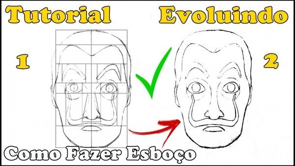 Como Desenhar Máscara La Casa De Papel + Dica Para Você Evoluir