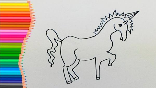 Como Desenhar E Colorir Unicornio Para CrianÇas