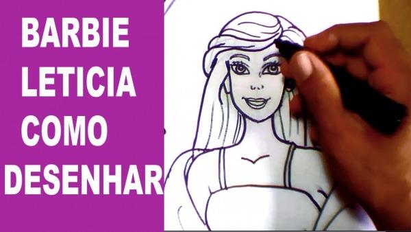 Como Desenhar A Barbie Passo A Passo Tutorial