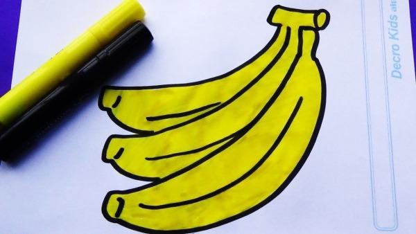 Como Dibujar Y Colorear Bananas O Plátanos