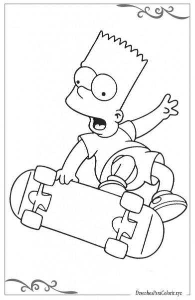 Os Simpsons Desenhos Para Colorir Grátis