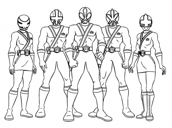 Power Rangers Para Colorir