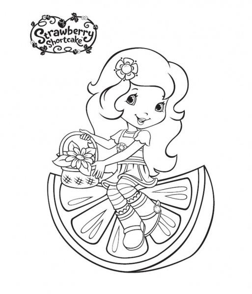 Desenhos Para Colorir Da Moranguinha Jovem – Pampekids Net