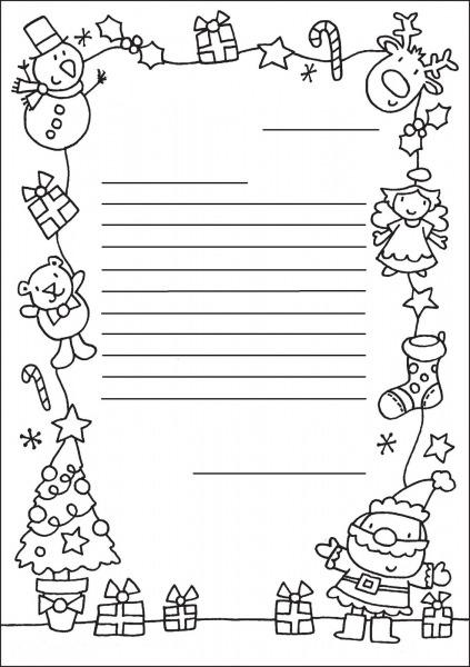 Turma Dos Pinguins  Papel De Carta Para Enviar Ao Pai Natal