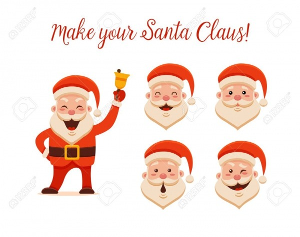 Desenhos Animados Papai Noel Para Seu Natal E Ano Novo Saudação