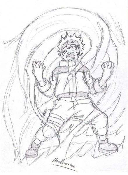 Naruto Kyuubi Desenho